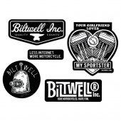 Biltwell Inc. - Наклейки SPORTSTER STICKER PACK - (STK-KIT-C-BWT) STK-KIT-C-BWT Biltwell Inc.
