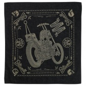 Бандана Biltwell Inc. черная - CHOPPER BLACK/TAN - BAN-CHOP-BLK-TAN BAN-CHOP-BLK-TAN Biltwell Inc.