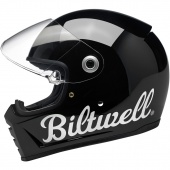 Шлем Biltwell Inc. - Lane Splitter Helmet - Gloss Black Factory - черный глянцевый с лого - Gloss Black Factory - размер S - 0101-11547 (1004-119-102) 1004-119-102 Biltwell Inc.