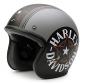 Шлем Bell Custom 500 - Harley-Davidson Helm Grey Star Retro 3/4 -  серая звезда - размер [M] EC-98320-15E/000M EC-98320-15E/000M bell helmets