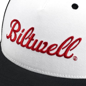 Кепка Biltwell Inc. - белая с лого - Logo Snap Back - Black/White/Red 8002-4021-00 8002-4021-00 Biltwell Inc.