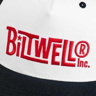 Кепка Biltwell Inc. - VINTAGE SNAP BACK - BLACK/WHITE/RED - винтажная белая с лого - 8002-4005-00 8002-4005-00 Biltwell Inc.