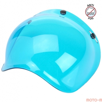 Визор Biltwell Bubble синий - ANTI-FOG - BLUE - BS-BLU-AF-SD, 0131-0108, 2001-105, 562875 2001-105 Biltwell Inc.