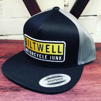 Кепка Biltwell Inc. - JUNKER SNAP BACK - BLACK/GREY/YELLOW - черно-серая - 8002-2010-00 8002-2010-00 Biltwell Inc.